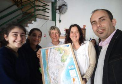 Mapas táctiles entregados a la Escuela «Santa Cecilia» (No videntes)