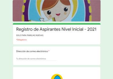 Inscripciones | Ciclo 2021