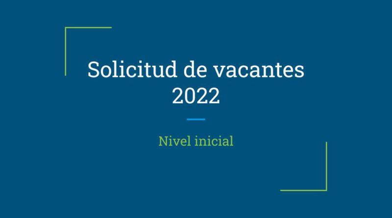 Solicitud de vacantes 2022